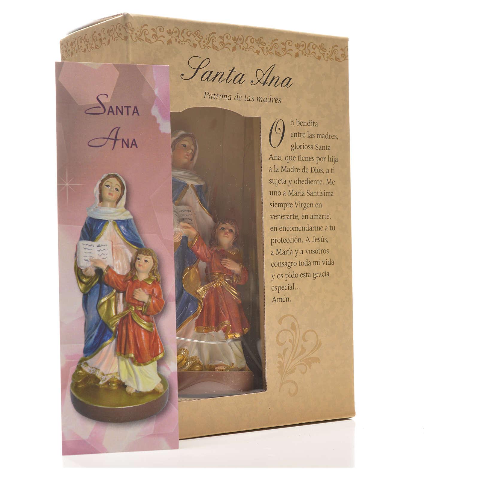 Sant'Anna 12 cm con immaginetta PREGHIERA SPAGNOLO 4