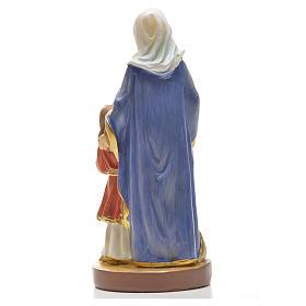 Sant'Anna 12 cm con immaginetta PREGHIERA SPAGNOLO s2
