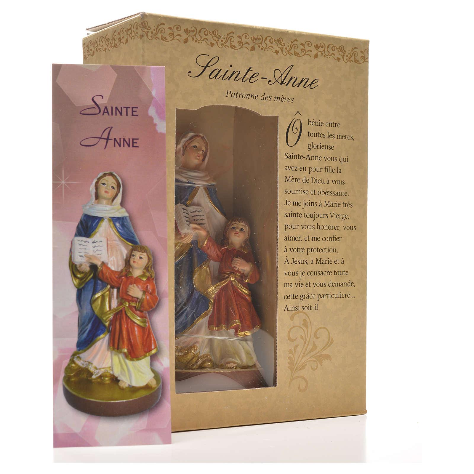 Sant'Anna 12 cm con immaginetta PREGHIERA FRANCESE 4