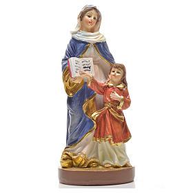 Sant'Anna 12 cm con immaginetta PREGHIERA FRANCESE s1