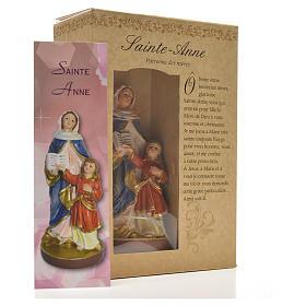 Sant'Anna 12 cm con immaginetta PREGHIERA FRANCESE s3