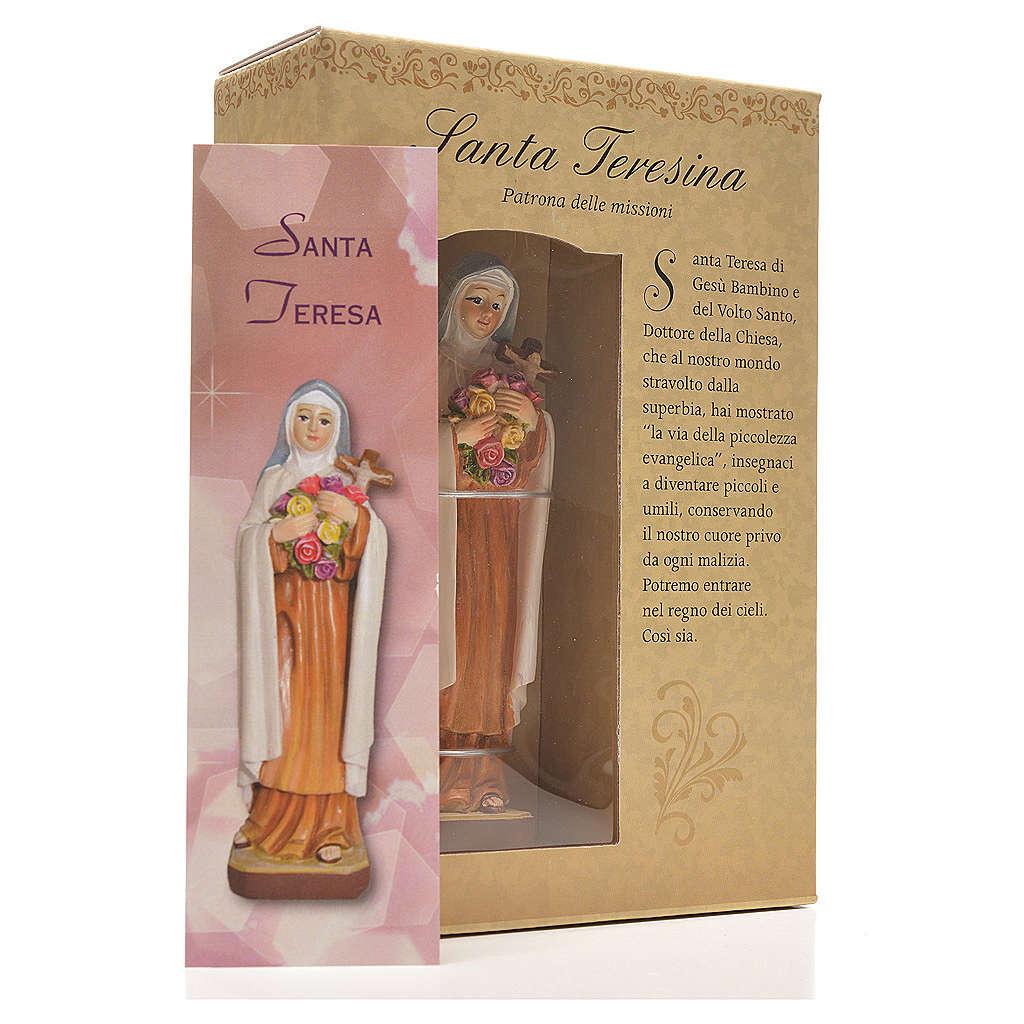 Santa Teresita 12cm con imagen y oración en Italiano 4