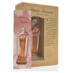 Santa Teresita 12cm con imagen y oración en Italiano s3