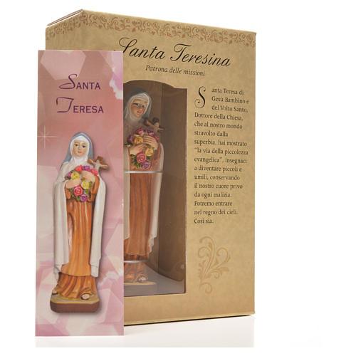 Santa Teresita 12cm con imagen y oración en Italiano 6