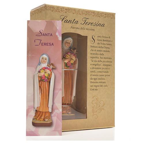 Santa Teresita 12cm con imagen y oración en Italiano 3