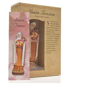 Santa Teresina 12 cm con immaginetta PREGHIERA ITALIANO s6