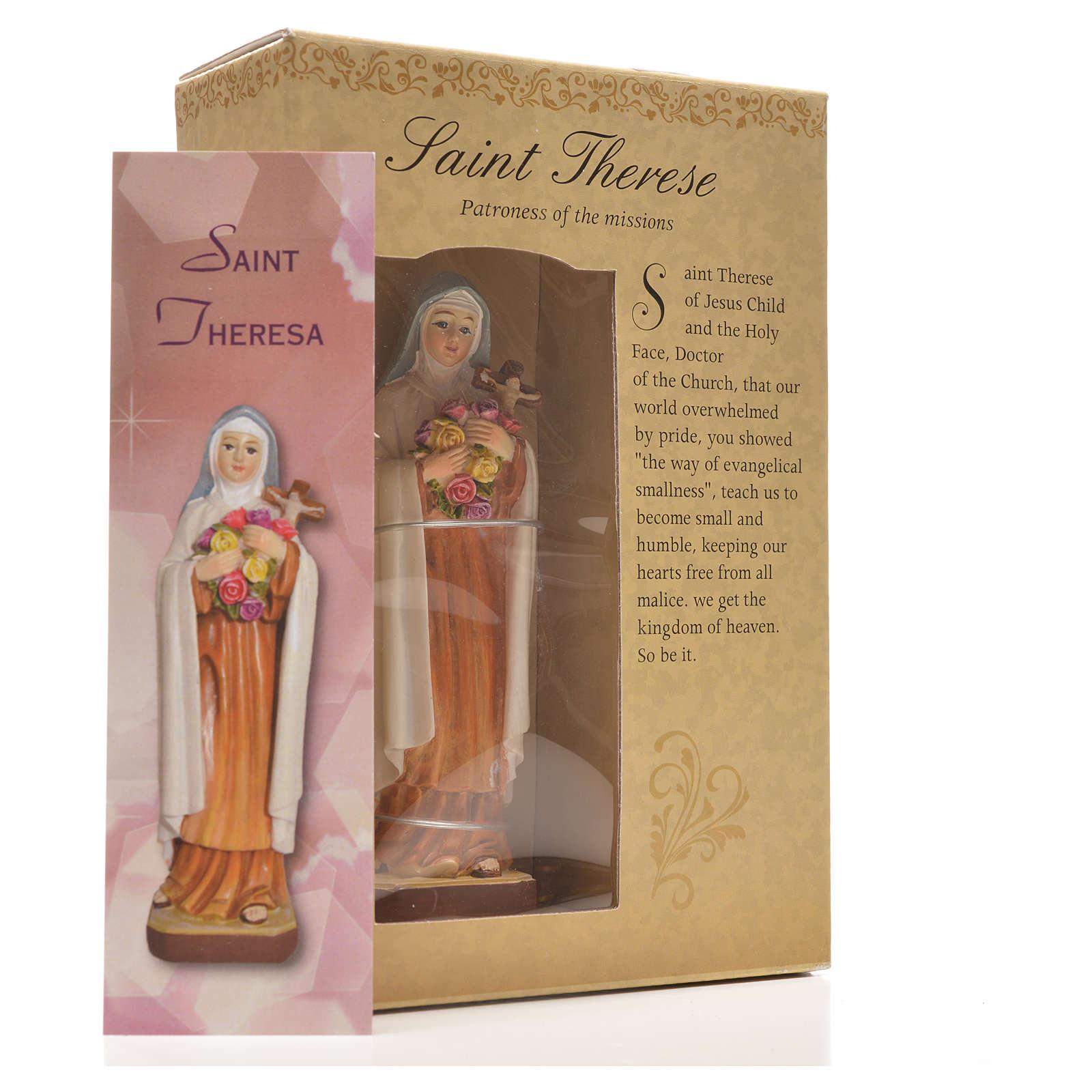 Sainte Thérèse 12cm image et prière en Anglais 4