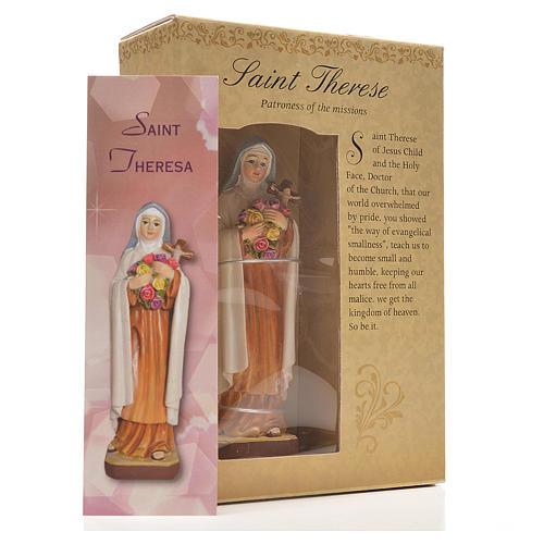Sainte Thérèse 12cm image et prière en Anglais 3