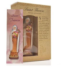 Saint Thérèse 12cm with image and ENGLISH PRAYER s6