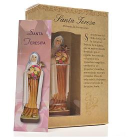 Santa Teresita 12cm con imagen y oración en Español s6