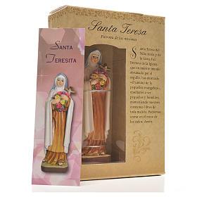 Santa Teresita 12cm con imagen y oración en Español s3