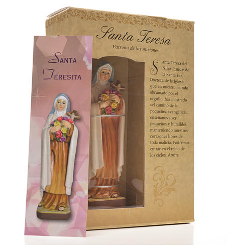 Saint Thérèse 12cm with image and SPANISH PRAYER 6