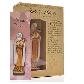 Santa Teresina 12 cm con immaginetta PREGHIERA FRANCESE s6