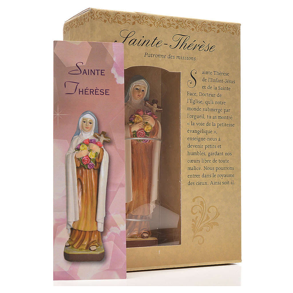 Saint Thérèse 12cm with image and FRENCH PRAYER 4