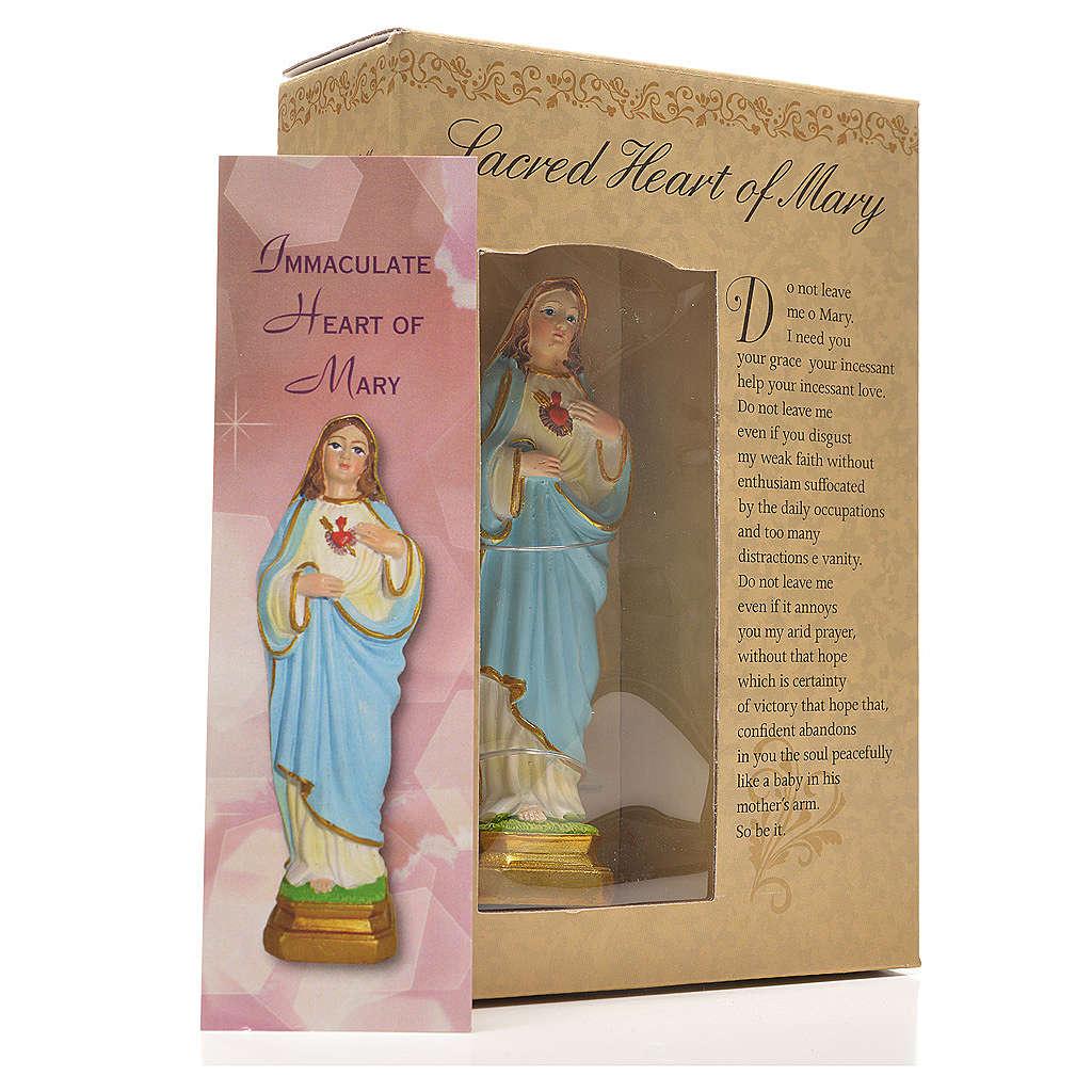 Sacré Coeur de Marie 12cm image prière en Anglais 4