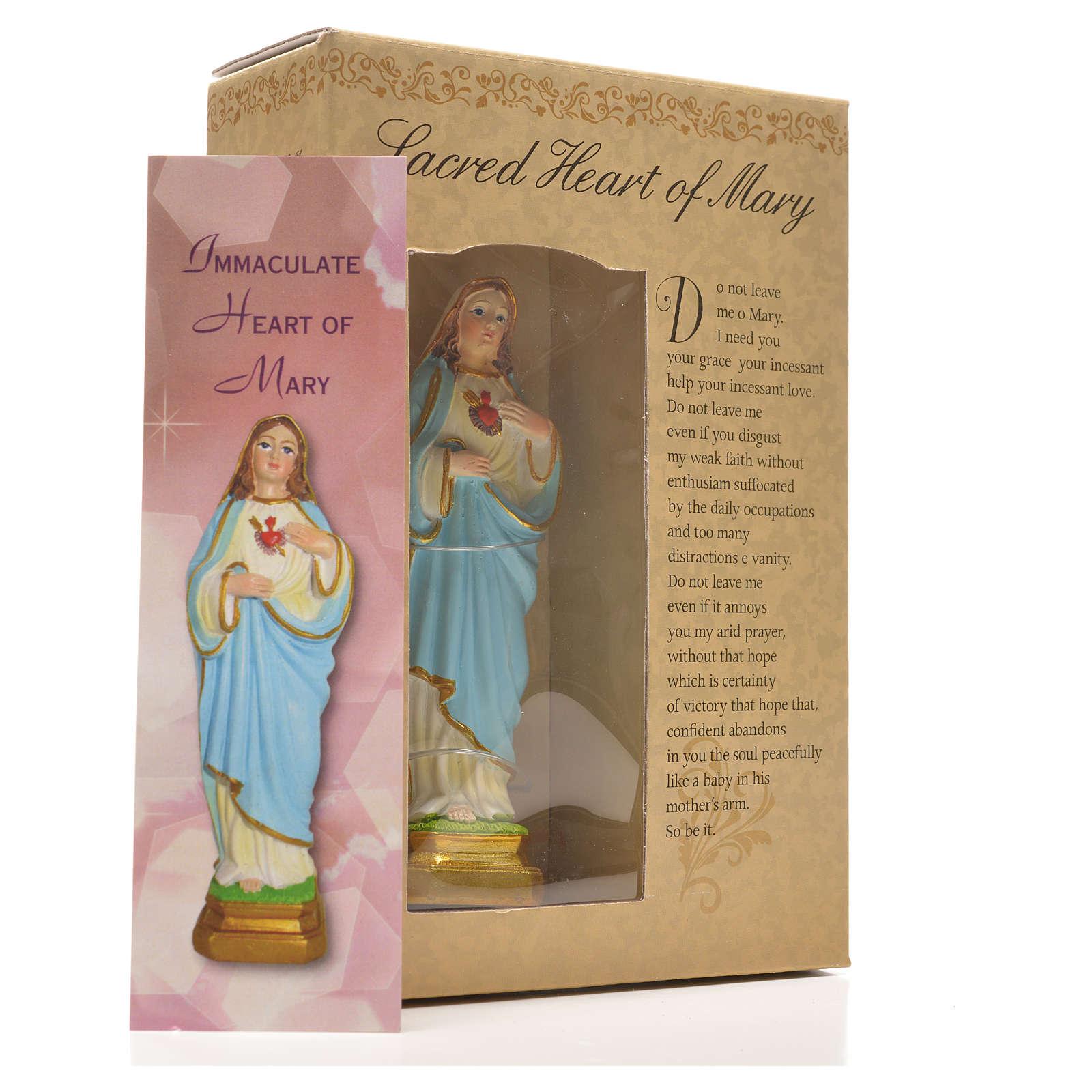 Sacro Cuore di Maria 12 cm con immaginetta PREGHIERA INGLESE 4
