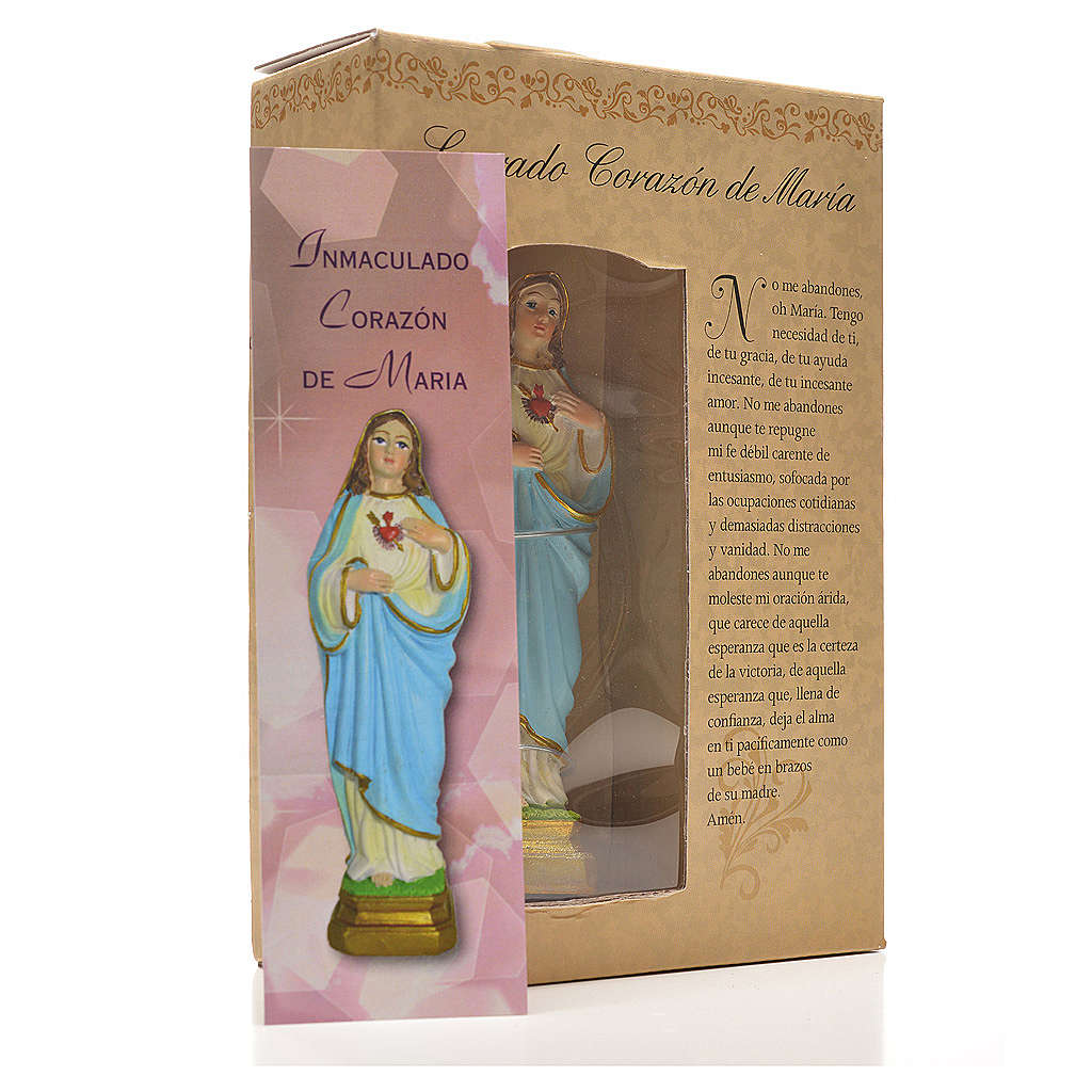Sacred Heart of Mary 12cm with image and SPANISH PRAYER 4