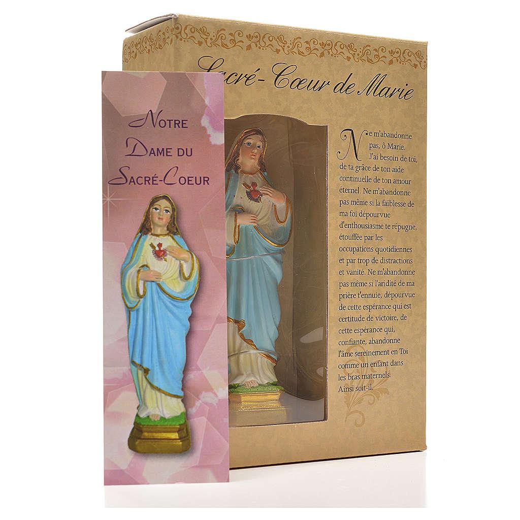 Sacro Cuore di Maria 12 cm con immaginetta PREGHIERA FRANCESE 4