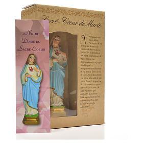 Sacro Cuore di Maria 12 cm con immaginetta PREGHIERA FRANCESE s6