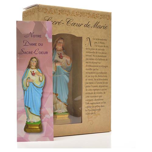 Sacro Cuore di Maria 12 cm con immaginetta PREGHIERA FRANCESE 6