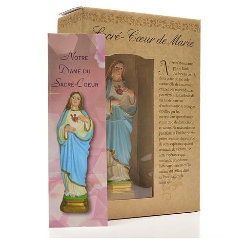 Sacro Cuore di Maria 12 cm con immaginetta PREGHIERA FRANCESE 3