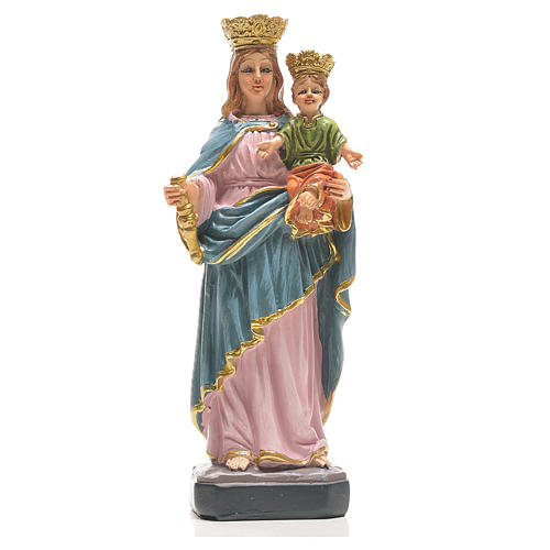 Mary Help of Christians 12cm with image and ITALIAN PRAYER 1