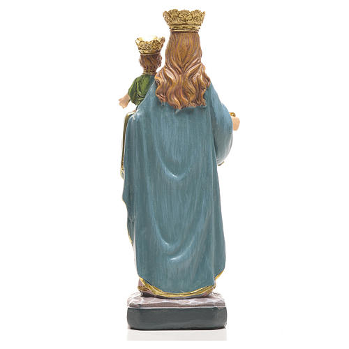 Mary Help of Christians 12cm with image and ITALIAN PRAYER 2