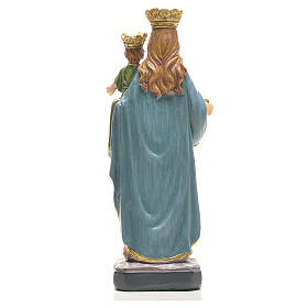Mary Help of Christians 12cm with image and SPANISH PRAYER s5