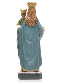 Mary Help of Christians 12cm with image and SPANISH PRAYER s11