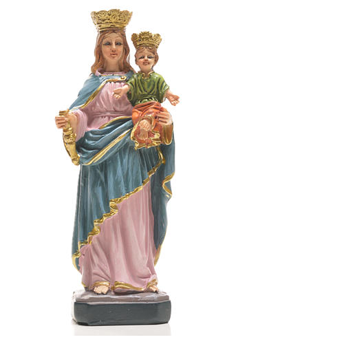Mary Help of Christians 12cm with image and SPANISH PRAYER 10