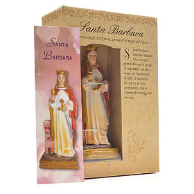 Saint Barbara, 12cm with Italian prayer s3