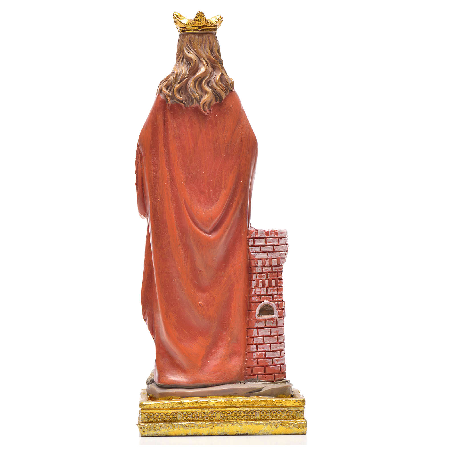 Santa Barbara 12 cm con immaginetta PREGHIERA INGLESE 4