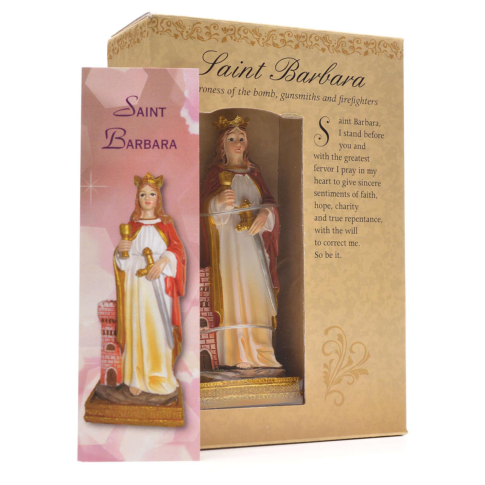 Saint Barbara, 12cm with English prayer 4