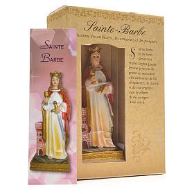 Santa Bárbara 12cm con imagen y oración en Francés s3