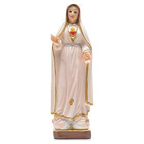 Madonna di Fatima 12 cm con immaginetta PREGHIERA ITALIANO s1