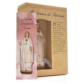Madonna di Fatima 12 cm con immaginetta PREGHIERA ITALIANO s3