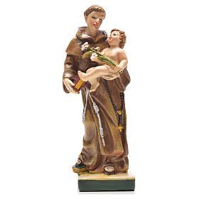 Sant'Antonio da Padova 12 cm con immaginetta PREGHIERA INGLESE s1