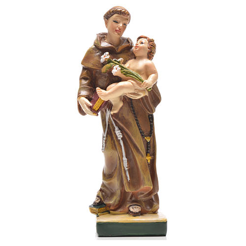 Sant'Antonio da Padova 12 cm con immaginetta PREGHIERA INGLESE 1