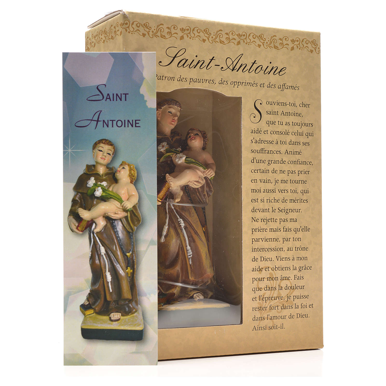 Saint Anthony of Padua 12cm with French prayer 4