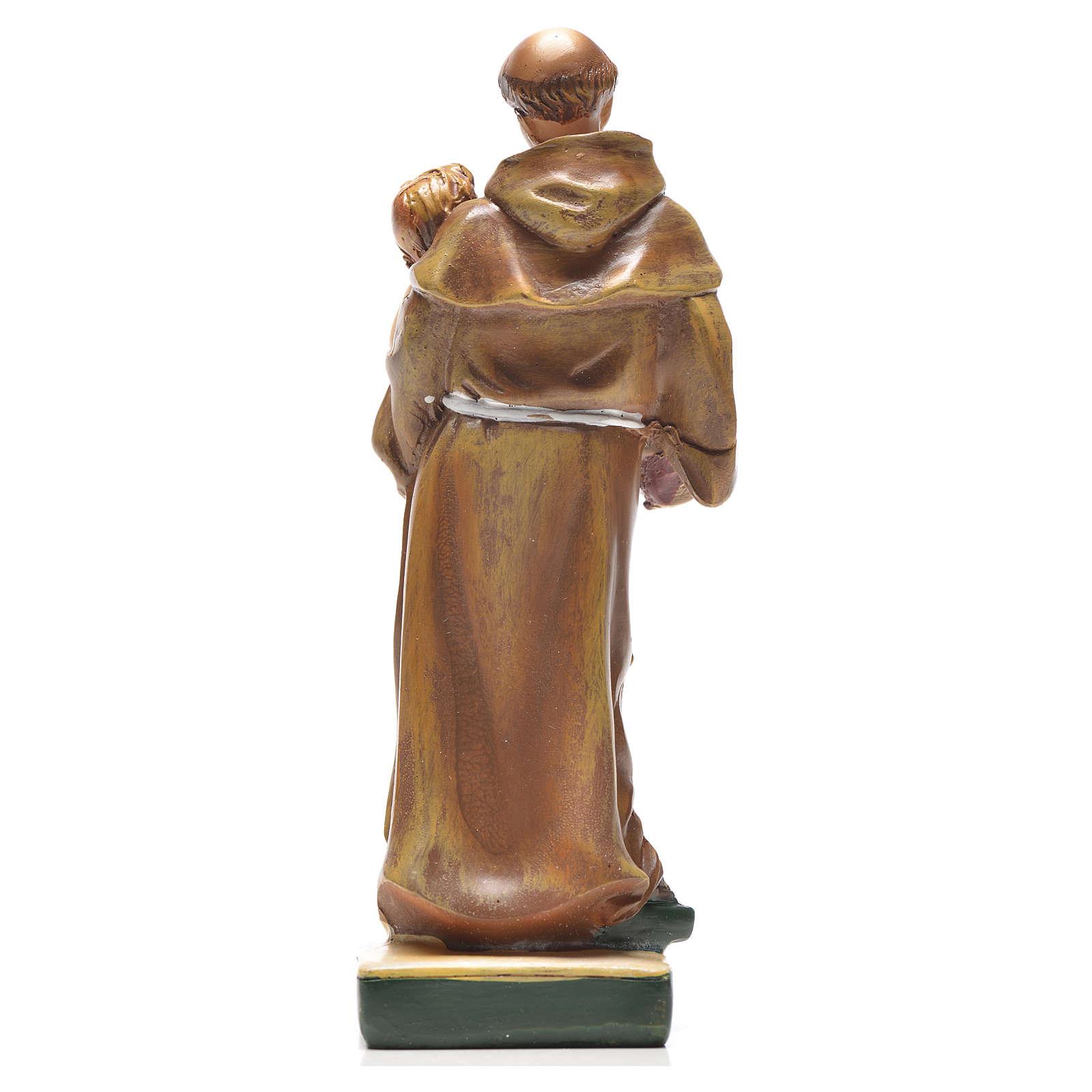 Sant'Antonio da Padova 12 cm con immaginetta PREGHIERA FRANCESE 4