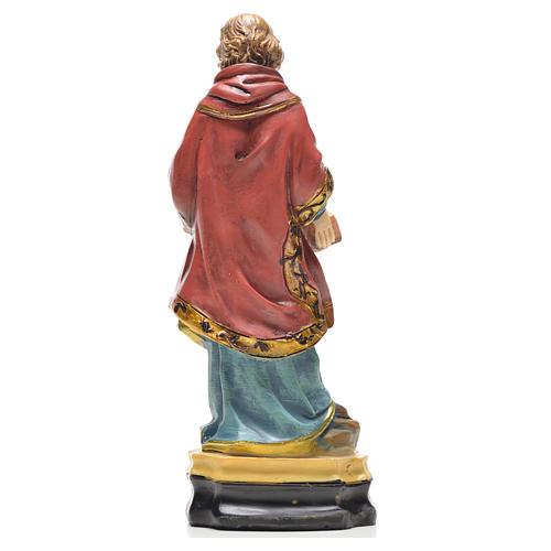 Santo Stefano 12 cm con immaginetta PREGHIERA INGLESE 2