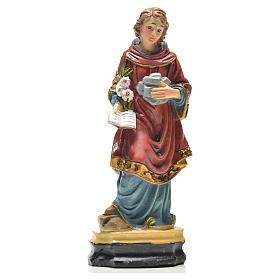 Santo Stefano 12 cm con immaginetta PREGHIERA FRANCESE s1