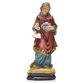 Resin & PVC statues: Saint Stephen 12cm with French prayer