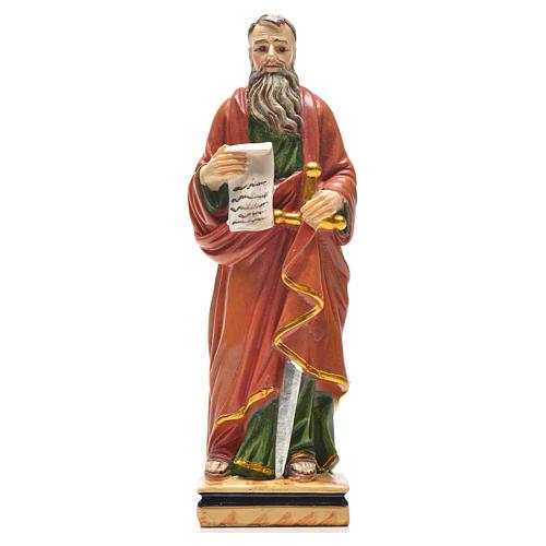 Figurka święty Paweł z obrazkiem z modlitwą po włosku 1