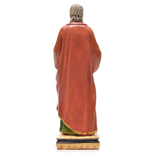 Figurka święty Paweł z obrazkiem z modlitwą po włosku 2