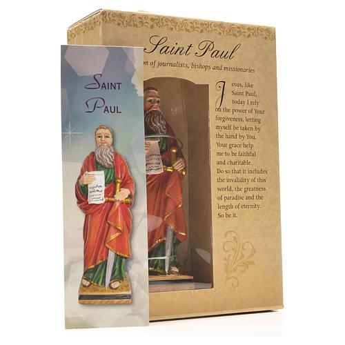 San Pablo 12cm con imagen y oración en Ingles 3