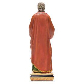 San Paolo 12 cm con immaginetta PREGHIERA FRANCESE s2