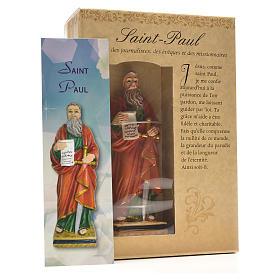 San Paolo 12 cm con immaginetta PREGHIERA FRANCESE s3