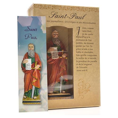 San Paolo 12 cm con immaginetta PREGHIERA FRANCESE 3