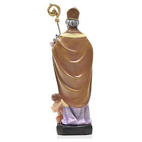 San Nicola 12 cm con immaginetta PREGHIERA ITALIANO s2